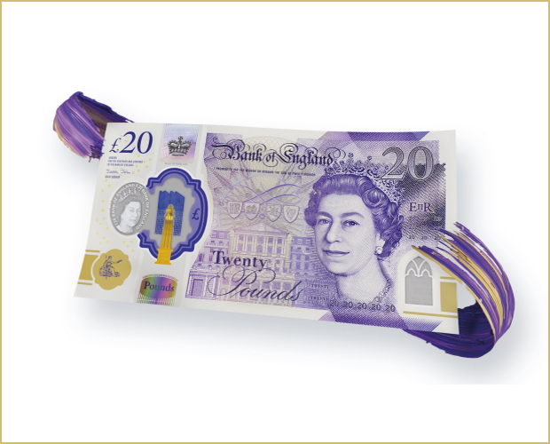 The new £20 note unveiled