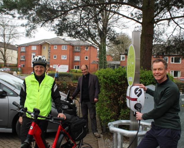 Cumbria bike mayor launches new public chargepoints in Penrith