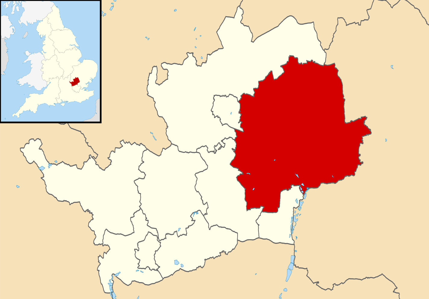 East-Hertfordshire-map
